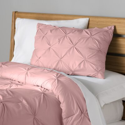 Fulham Comforter Set Color: Coral, Size: Full / Queen
