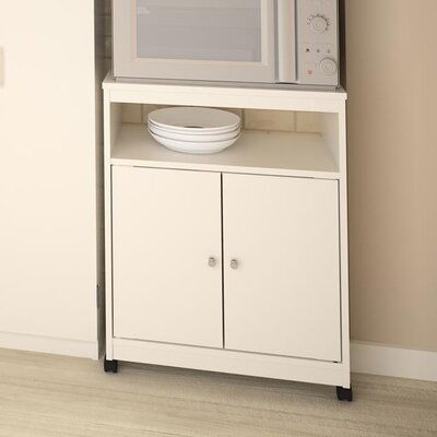 Gallipolis Microwave Cart Finish: Glossy White