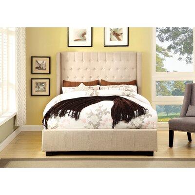 Garrett Upholstered Panel Bed Size: Queen, Upholstery: Ivory