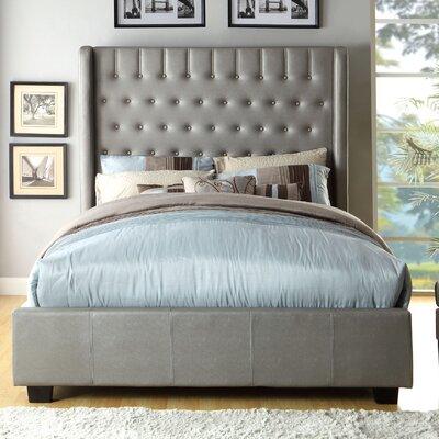 Garrett Upholstered Panel Bed Size: Queen, Upholstery: Silver