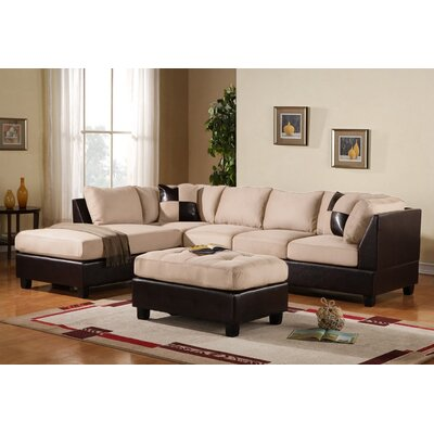 Georgetown Reversible Sectional Upholstery: Beige