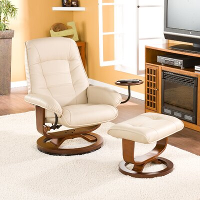 Gibsonburg Ergonomic Recliner & Ottoman Set Upholstery: Taupe