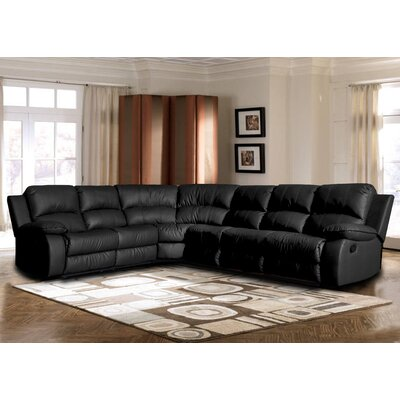Kelleys Island Classic Reclining Sectional Upholstery: Black