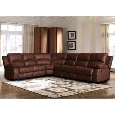 Kelleys Island Classic Reclining Sectional Upholstery: Brown