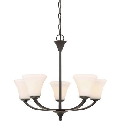 Olsson 5-Light Candle-Style Chandelier Finish: Mahogany Bronze