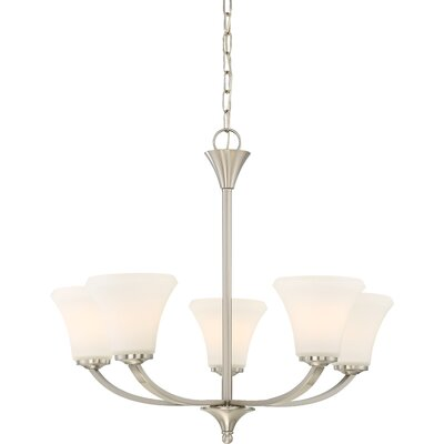Olsson 5-Light Shaded Chandelier Finish: Brushed Nickel