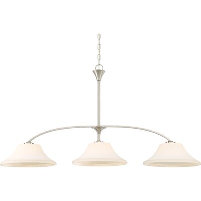 Olsson 3-Light Kitchen Island Pendant Finish: Brushed Nickel