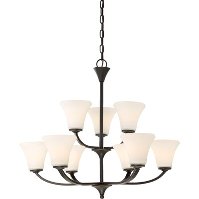 Olsson 9-Light Shaded Chandelier Finish: Mahogany Bronze