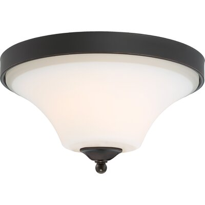 Olsson 2-Light Flush Mount Finish: Mahogany Bronze