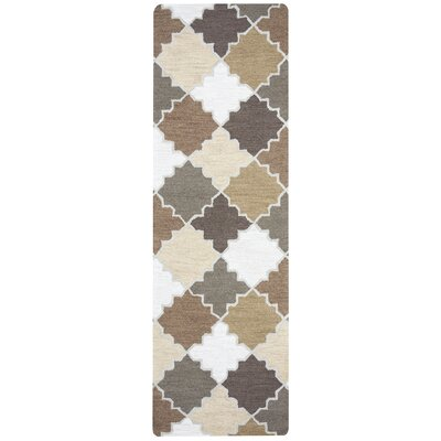 Redbeard Hand-Tufted Khaki Area Rug Rug Size: Rectangle 10 x 14