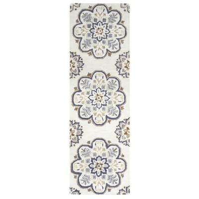 Restoration Hand-Tufted Light Gray Area Rug Rug Size: Runner 26 x 8