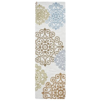 Noland Hand-Tufted Beige Area Rug Rug Size: Rectangle 9 x 12