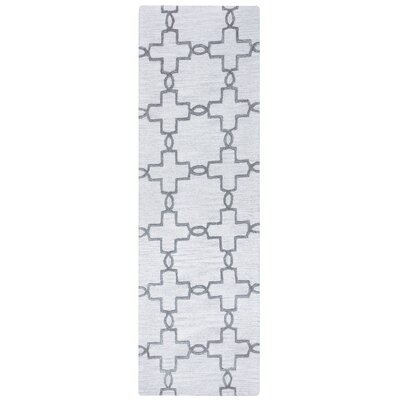 Revolver Hand-Tufted Light Gray Area Rug Rug Size: 5' x 8'