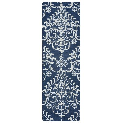 Red Clay Hand-Tufted Indigo Area Rug Rug Size: Runner 26 x 10