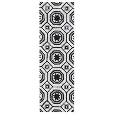 Revolver Hand-Tufted Light Gray Area Rug Rug Size: Runner 26 x 8