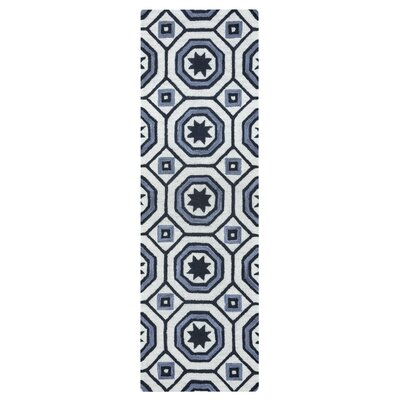 Revolver Hand-Tufted Light Gray Area Rug Rug Size: Runner 2'6