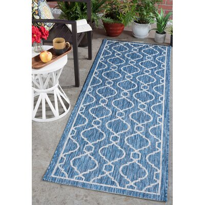 Ford Transitional Indigo Indoor/Outdoor Area Rug Rug Size: Runner 27 x 73