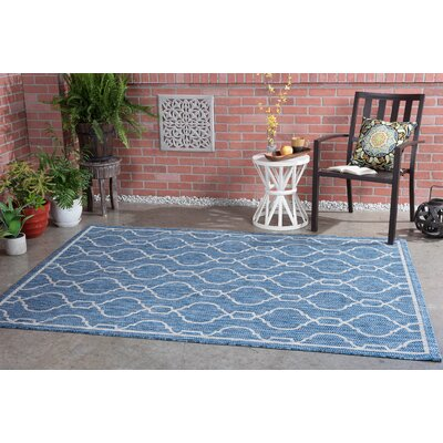 Ford Transitional Indigo Indoor/Outdoor Area Rug Rug Size: Rectangle 67 x 96