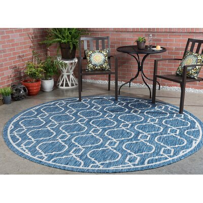 Ford Transitional Indigo Indoor/Outdoor Area Rug Rug Size: Round 710