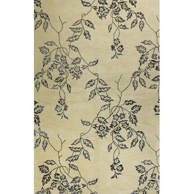 River City Hand-Tufted Ivory Area Rug Rug Size: 39 x 59