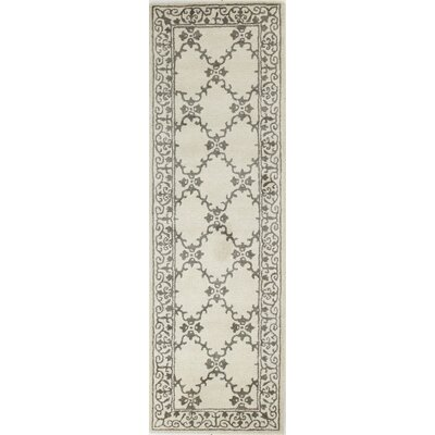 River City Hand-Tufted Ivory Area Rug Rug Size: Runner 26 x 8