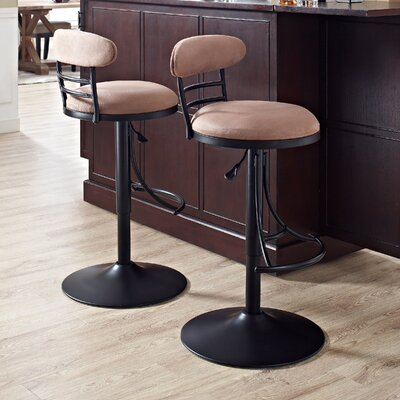 Rockmill 31 Swivel Bar Stool Finish: Black, Upholstery: Brown