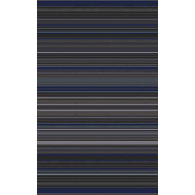 Briargate Charcoal Stripe Area Rug Rug Size: Rectangle 9 x 13