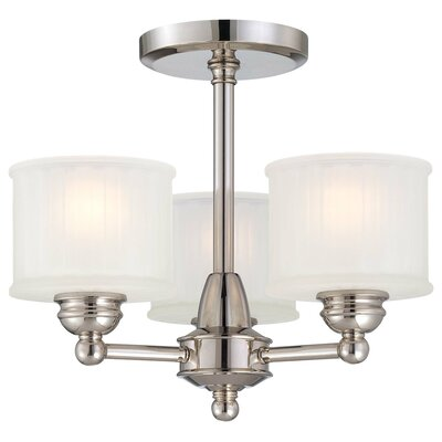 Nashville 3-Light Semi-Flush Mount Finish: Polished Nickel