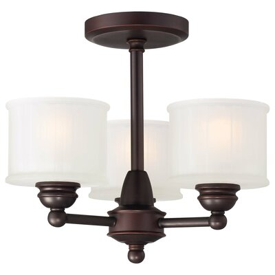Beckemeyer 3-Light Semi-Flush Mount Finish: Lathan Bronze