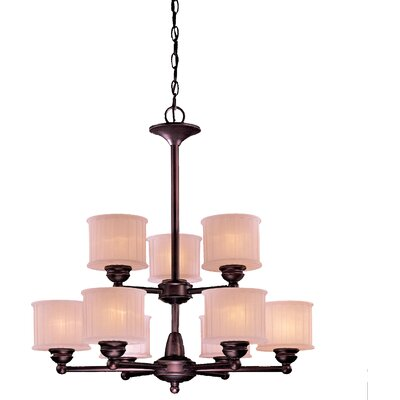 Beckemeyer 9-Light Drum Chandelier