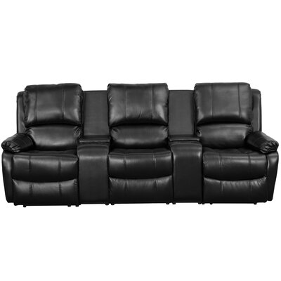 Home Theater Recliner (Row of 3) Upholstery: Black