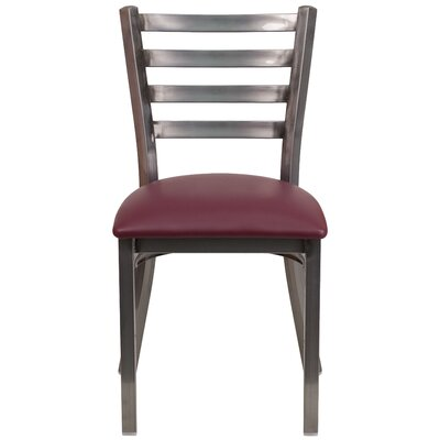 Loughran Side Chair Upholstery: Burgundy