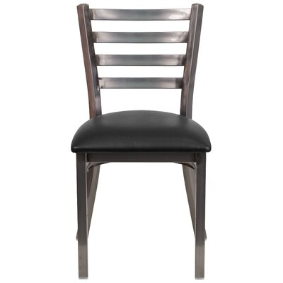 Loughran Side Chair Upholstery: Black
