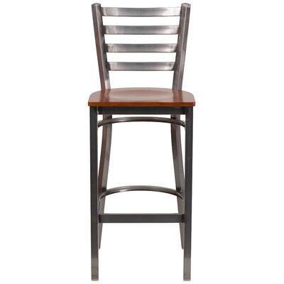 Loughran 29 Bar Stool Upholstery: Cherry