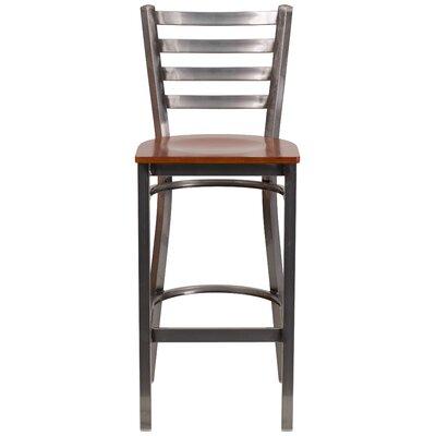 Loughran 29 Bar Stool Upholstery: Cherry