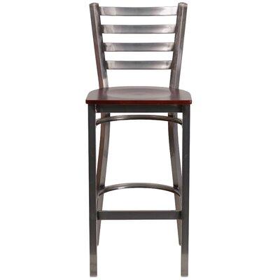 Loughran 29 Bar Stool Upholstery: Mahogany