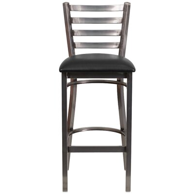 Loughran 31 Bar Stool Upholstery: Black