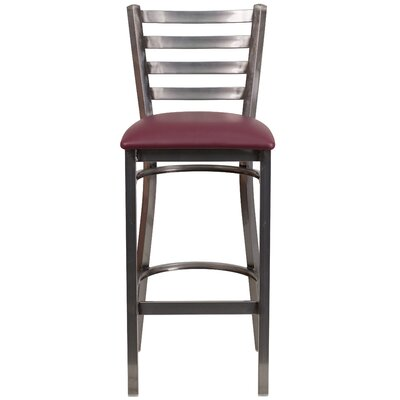 Loughran 31 inch Bar Stool Upholstery: Burgundy