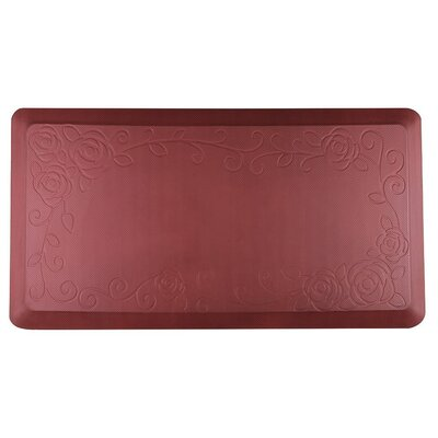 Behne Premium Comfort Kitchen Mat Color: Red Rose