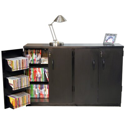Double Multimedia Storage Cabinet Color: Black