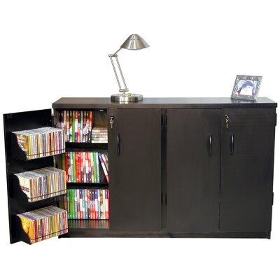 Double Multimedia Storage Cabinet Color: Black