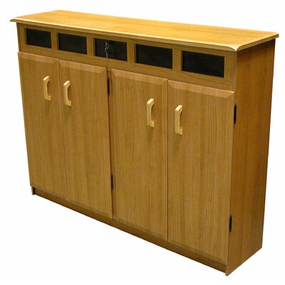 Top Load Multimedia Cabinet Finish: Black & Oak