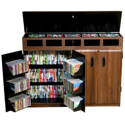 Top Load Multimedia Cabinet Color: Dark Walnut