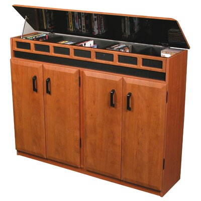 Top Load Multimedia Cabinet Finish: Black & Cherry