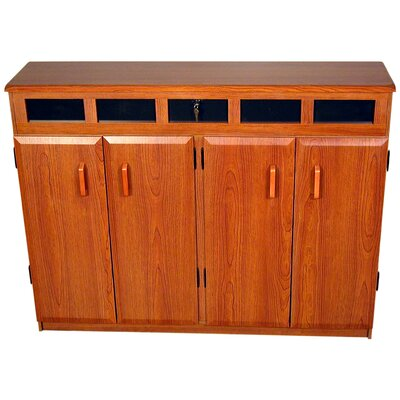 Top Load Multimedia Cabinet Color: Cherry