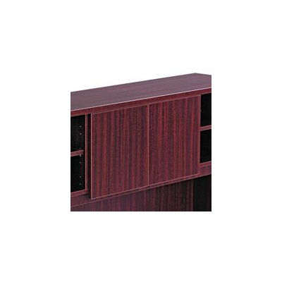 Belle 0.71 H x 14.09 W Desk Hutch Door Finish: Mahogany
