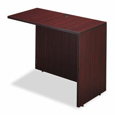 Belle 29.625 H x 42 W Right Desk Return Finish: Mahogany