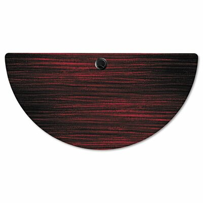Belle Half Round Training Table Top Finish: Mahogany