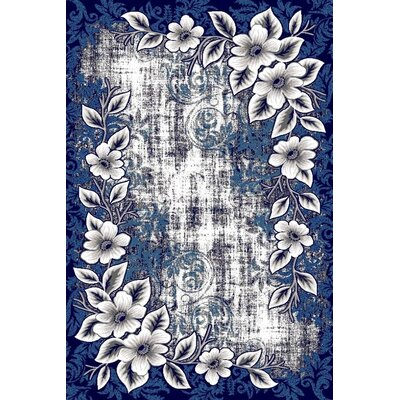 Chapman Navy Blue Indoor/Outdoor Area Rug Rug Size: 5 x 7