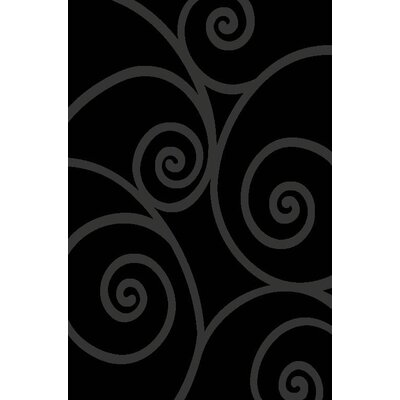 Chapman Gray/Black Indoor/Outdoor Area Rug Rug Size: 5 x 7